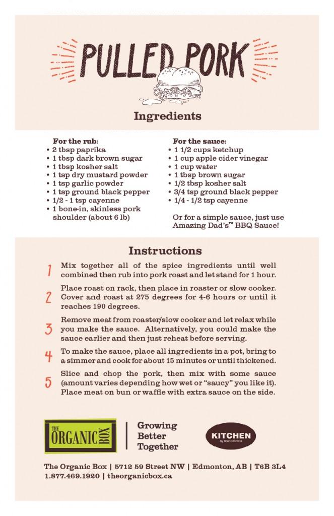 pork recipe card