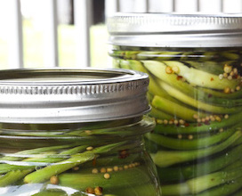 Canned Pickled Garlic Scapes